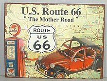 i.stHOME Blechschild US Route 66 - The Mother Road
