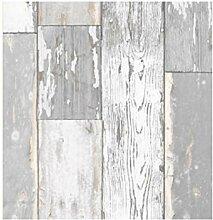 i.stHOME Klebefolie Scrapwood grau - Möbelfolie