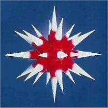 I7, roter Kern / weiße Spitzen, Weihnachtsstern