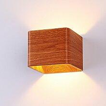 IACON 3W Led-Licht Wandlampe Holz moderne