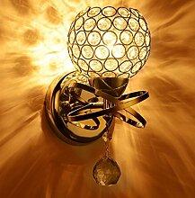 IACON LED 5W Kristall Wandleuchte Gold Wandlampe