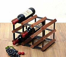 IAIZI Wine Shelf Freistehende Weinflasche aus Holz