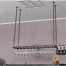 IAIZI Wine Shelf Rotweinglashalter, Retro-Home