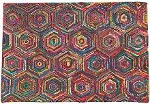 Ian Snow Flickenteppich, Hexagonmuster, mehrfarbig