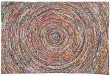Ian Snow Flickenteppich, Spirale Spice, Mehrfarbig