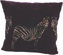 Ian Snow Kissenbezug Zebra, Samt, Lila
