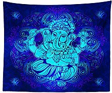 ianhao Wall Hanging Tapestries, Blue Background