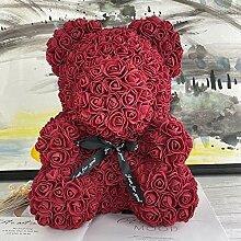 ianluo Kunstblumen 25cm Mit Herz Big Red Bear Rose