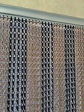 Ians Emporium Schwarz & Kupfer Doppelhaken Aluminium Insektenschutz Tür Vorhang Fly Tür Display–Extra Lang–90cmx210cm
