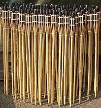 iapyx® Gartenfackel Bambusfackeln Bambus Fackeln Öllampen Windlicht Partylicht Garten Hochzeit Fest Silvester (Beige, 90cm)