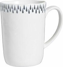 Ib Laursen Becher Tasse Delicate weiß/Grau 320 ml