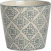 Ib Laursen Casablanca Becher Blumenmuster grau