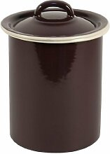 Ib Laursen - Dose Vorratsdose mit Deckel, Farbe: Lila, Volumen: 1,6l, Material: Emaille