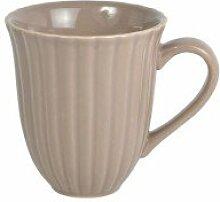 Ib Laursen - Henkelbecher, Kaffeebecher, Becher mit Rillen - Mynte - Milky Brown - 250 ml