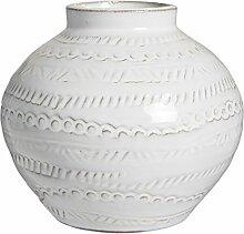 IB Laursen Klein Weiß Agra Vase mit Muster 12cm