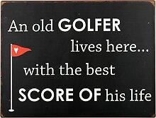 IB Laursen Metallschild An Old Golfer