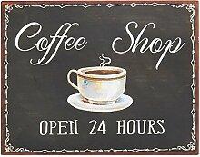 Ib Laursen Metallschild Coffee Shop