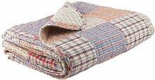 IB Laursen - Quilt, Decke, Tagesdecke, Kuscheldecke - New England Patchwork - 180 x 130 cm - Bun