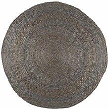 IB Laursen Teppich rund dunkelgrau