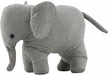 Ib Laursen - Türstopper - Elefant Grau - Bodil - 100 % Baumwolle, gefüllt mit Steinen
