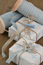 Ib Laursen Wäscheklammer Dekoklammer Klammer für Geschenke hellblau 5 Stück