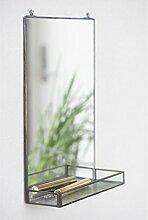 IB LAURSEN - Wandspiegel mit Regal Vintage Metall