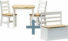 IB-Style - Kindersitzgruppe ILEX   3 Kombinationen   4-er Set: 1x Tisch + 2x Stühle + 1x Truhenbank - Stuhl Truhenbank Kindermöbel Tisch Kindertisch Kinderstuhl