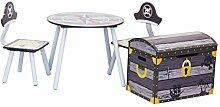 IB-Style - Kindersitzgruppe PIRATE - Stuhl Truhenbank Tisch   3 Kombinationen   2x Kinderstuhl 1x Kindertisch 1x Truhenbank / Spielzeugkiste