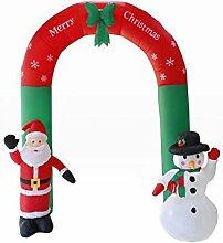 iBaste_Aufblasbarer Bogen 2.4m Weihnachten