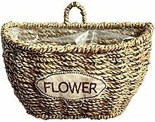 iBaste Blumentöpfe Hängend Korb Aus Seegras