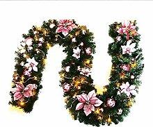 iBaste Girlande Deko Weihnachten Tannengirlande