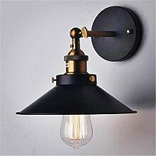 iBaste Wandlampe Retro Verstellbar Metall