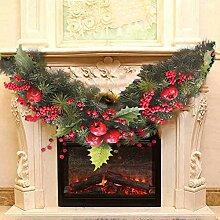 iBaste Weihnachtskranz Girlande mit Beeren
