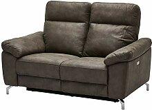 Ibbe Design Braun Stoff 2er Sitzer Relaxsofa Couch