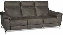 Ibbe Design Braun Stoff 3er Sitzer Relaxsofa Couch