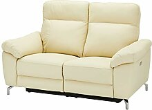 Ibbe Design Creme Leder 2er Sitzer Relaxsofa Couch