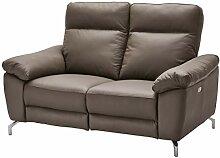 Ibbe Design Grau Echt Leder 2 Sitzer Relaxsofa