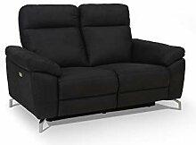 Ibbe Design Schwarz Stoff 2er Sitzer Relaxsofa