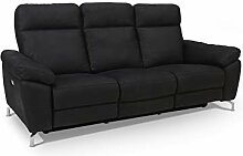 Ibbe Design Schwarz Stoff 3er Sitzer Relaxsofa