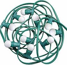 ibelec 166910Lichterkette Außen mit 10Lampen LED Kunststoff 0,5W B22weiß 10m