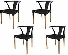 IBH DESIGN 4 Stühle Chelsea – Schwarz –