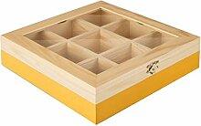IBILI Teebox mit 9 Fächern aus Pinienholz in