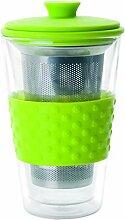 IBILI Teeglas mit Filter 250 ml, Glas, schwarz, 9