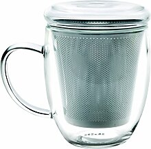 IBILI Teeglas mit Filter 300 ml, Glas,