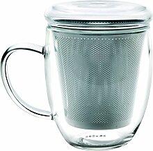 IBILI Teeglas mit Filter 300 ml, Glas,