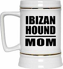 Ibizan Hound Mom - Beer Stein Bierkrug Keramik