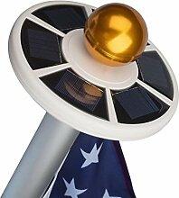 iBlazer Solar-Flaggenmast mit 26 LEDs, super hell,