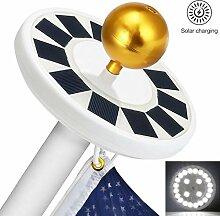 iBlazer Solar-Flaggenmast, Solarleuchte mit 24