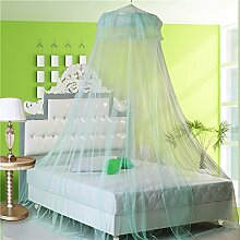 IBLUELOVER Moskitonetz Reißfestes Runder Netzvorhang Insektenschutz Baldachin Mückennetz Fliegengitter mit Lace Spitzen Prinzessin Betthimmel für Schlafzimmer gegen Insetzen Mücken