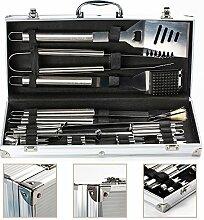 IBUYTOP 17-teiliges Grillbesteck-Set im Koffer